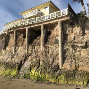 hole in the cliff simplifies this Isla Vista leak detection